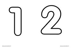 Chiffres de 1 à 5 à décorer - Ecriture - Petite - Moyenne et  - 2 : 1ere, 2eme, 3eme Maternelle - Cycle Fondamental