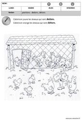 Dedans - Dehors - Espace : 1ere, 2eme Maternelle - Cycle Fondamental