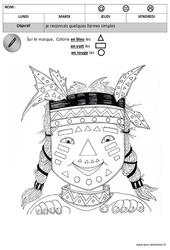 Colorie les formes - Formes : 2eme, 3eme Maternelle - Cycle Fondamental