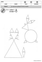 Rond - Triangle - Formes : 1ere, 2eme Maternelle - Cycle Fondamental