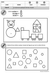 Formes : 2eme, 3eme Maternelle - Cycle Fondamental