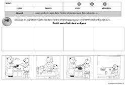 Ordre chronologique - Images séquentielles - Temps : 1ere, 2eme Maternelle - Cycle Fondamental
