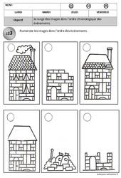 Ordre chronologique - Images séquentielles - Temps : 2eme, 3eme Maternelle - Cycle Fondamental