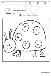Coloriage magique 1,2,3,4,5 - Quantités et nombres : 1ere, 2eme Maternelle - Cycle Fondamental