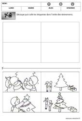 Images séquentielles - Temps - Noël : 1ere, 2eme Maternelle - Cycle Fondamental