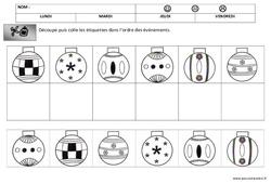 Lecture - Discrimination visuelle - Noël : 1ere, 2eme Maternelle - Cycle Fondamental