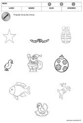 Trouver les objets de Noël - Logique - Noël : 1ere, 2eme Maternelle - Cycle Fondamental