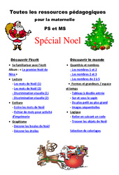 Noël - Dossier pédagogique - Toutes les ressources pour la maternelle- Fiches Petite et  : 1ere, 2eme Maternelle - Cycle Fondamental