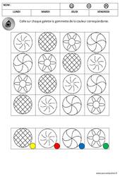 Discrimination visuelle - Les galettes - Fête des rois : 1ere, 2eme Maternelle - Cycle Fondamental