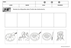 Images séquentielles - La galette - Fête des rois : 1ere, 2eme Maternelle - Cycle Fondamental
