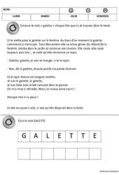 Lecture du mot galette - Fête des rois : 1ere, 2eme Maternelle - Cycle Fondamental