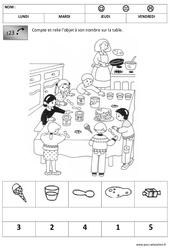 Quantités - Chandeleur : 1ere, 2eme Maternelle - Cycle Fondamental