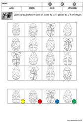 Discrimination visuelle - Les oeufs - Pâques : 2eme Maternelle - Cycle Fondamental