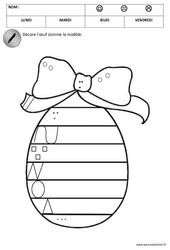 Graphisme - Pâques : 2eme Maternelle - Cycle Fondamental