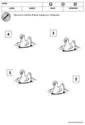 Nombres - Quantités - Pâques : 2eme Maternelle - Cycle Fondamental