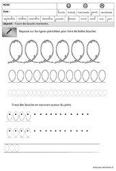 Boucles - Montantes - Graphisme : 3eme Maternelle - Cycle Fondamental