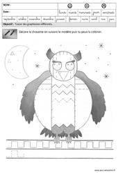 - Fiches pédagogiques - Exercices - Graphisme : 3eme Maternelle - Cycle Fondamental