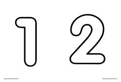 Chiffres de 1 à 9 à décorer - Ecriture de nombres : 3eme Maternelle - Cycle Fondamental