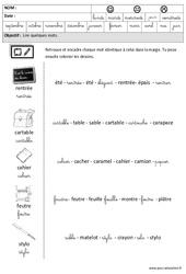 Rentrée - Lire des mots en cursive : 3eme Maternelle - Cycle Fondamental