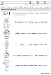 Noël - Lire des mots en cursive : 3eme Maternelle - Cycle Fondamental