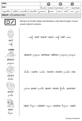 Pâques - Lire des mots en cursive : 3eme Maternelle - Cycle Fondamental
