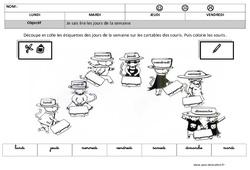 Lire les jours de la semaine en cursive - Lecture : 3eme Maternelle - Cycle Fondamental
