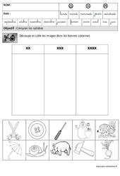 Syllabes - Phonologie : 3eme Maternelle - Cycle Fondamental