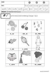 J'entends u ou i et j'écris - Phonologie : 3eme Maternelle - Cycle Fondamental