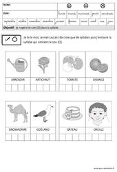 Son [O] dans la syllabe - Phonologie : 3eme Maternelle - Cycle Fondamental