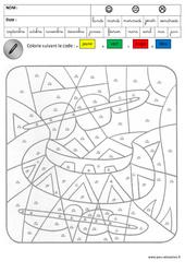 Coloriage magique - Lecture : 3eme Maternelle - Cycle Fondamental
