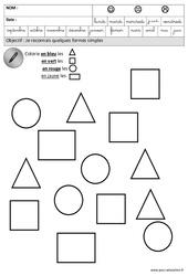 Formes : 3eme Maternelle - Cycle Fondamental