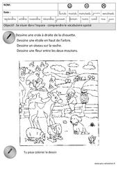 Comprendre le vocabulaire spatial - Espace : 3eme Maternelle - Cycle Fondamental