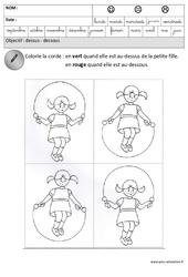 Dessus - Dessous - Espace : 3eme Maternelle - Cycle Fondamental