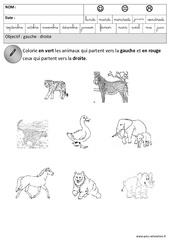 Gauche - Droite - Espace : 3eme Maternelle - Cycle Fondamental