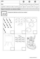 Compte et écris - Quantités et nombres : 3eme Maternelle - Cycle Fondamental