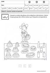 Associer nombres et quantités : 3eme Maternelle - Cycle Fondamental
