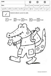 Coloriage codé - Logique : 3eme Maternelle - Cycle Fondamental