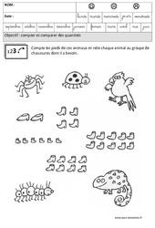 Comparer les quantités : 3eme Maternelle - Cycle Fondamental