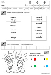 Lecture - Ecriture - Carnaval : 3eme Maternelle - Cycle Fondamental