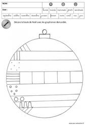 Décore les boules - Etoiles de noël - Graphisme - Noël : 3eme Maternelle - Cycle Fondamental