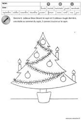 Devant, Derrière, Sur, Couleurs - Sapin - Espace - Noël : 3eme Maternelle - Cycle Fondamental