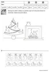 Nombres - Quantités - Noël : 3eme Maternelle - Cycle Fondamental