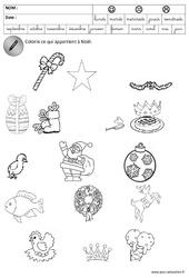 Trouver les objets de Noël - Logique - Trouver l'intrus - Noël : 3eme Maternelle - Cycle Fondamental
