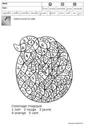 Coloriage codé - Pâques : 3eme Maternelle - Cycle Fondamental
