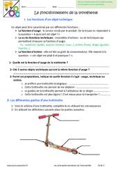 Fonctionnement de la trotinnette - Exercices : 6eme Primaire
