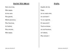 Fête des Pères - Chants - Comptines - Fiches  : 1ere, 2eme, 3eme Maternelle - Cycle Fondamental