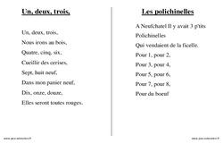 Numériques - Nombres - Chants - Comptines - Fiches  : 1ere, 2eme, 3eme Maternelle - Cycle Fondamental