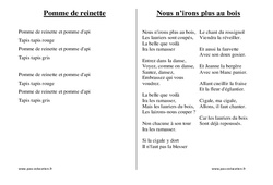 Chants du répertoire traditionnel - Fiches  : 1ere, 2eme, 3eme Maternelle - Cycle Fondamental