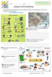 Impact environnemental - Exercices : 6eme Primaire