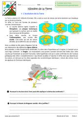 Histoire de la Terre - Exercices : 6eme Primaire